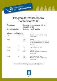Program för Vallda Backa September 2012