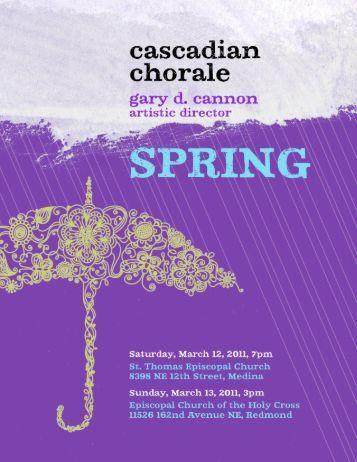 Program - Cascadian Chorale