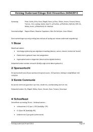 Verslag ouderraad 24 april 2013