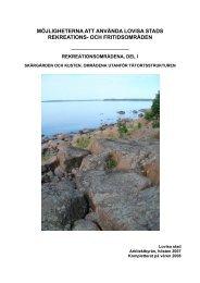 Bilaga 7: Utredning av rekreationsområden i Lovisa