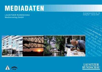 MEDIADATEN - Lausitzer Rundschau