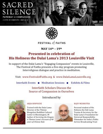 Presented in celebration of His Holiness the Dalai Lama's 2013 ...