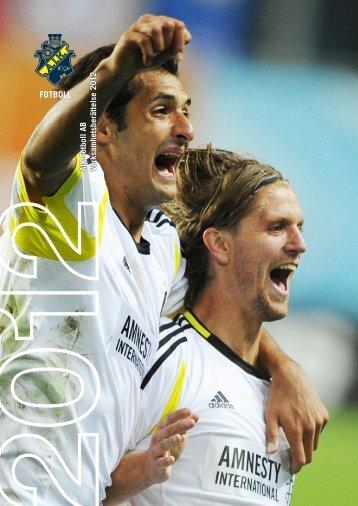 AIK Fotboll AB:s årsredovisning 2012 finns nu på aikfotboll.se