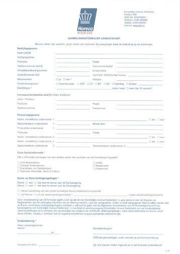 Betalingsvoorwaarden lidmaatschap - Koninklijke Horeca Nederland
