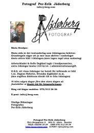 Fotograf Per-Erik Jäderberg Fotograf Per-Erik Jäderberg Fotograf ...