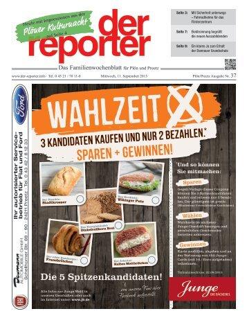 der reporter - Das Familienwochenblatt für Plön und Preetz 2013 KW 37