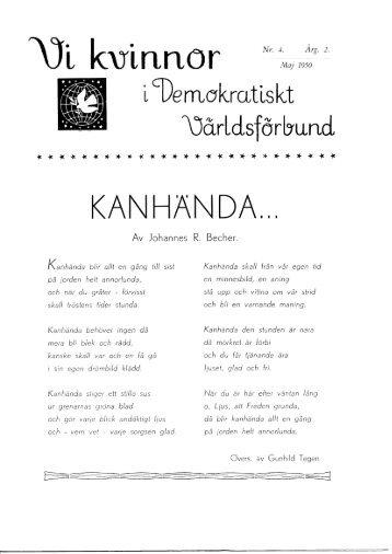 1950/4 - Vi Mänskor