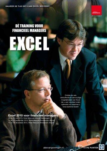 DÉ TRAINING VOOR FINANCIEEL MANAGERS - Alex van Groningen