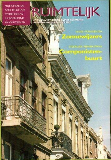 Ruimtelijk juni 2003 - Stichting Ruimte Roermond