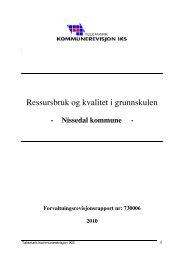 Ressursbruk og kvalitet i grunnskulen - NKRF