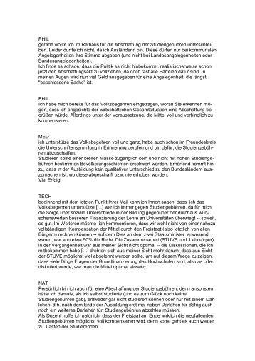 Gegen Studiengebühren - Stuve Uni Erlangen-Nürnberg