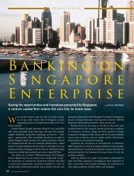 Banking on Singapore Enterprise - Upstream Ventures