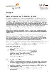 Bijlage 1 Advies collectieplan voor de Bibliotheek op school - SIOB