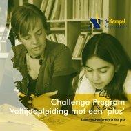 informatiebrochure Challenge Program - Hogeschool de Kempel