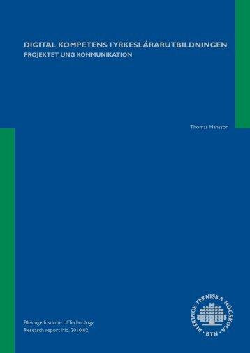 digital kompetens i yrkeslärarutbildningen - Ung Kommunikation