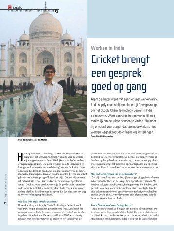 Cricket brengt een gesprek goed op gang - Supply Chain Magazine