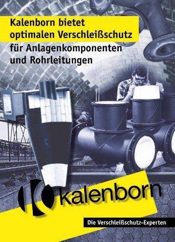 Kalenborn bietet optimalen Verschleißschutz für ...
