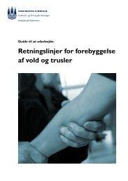 Retningslinjer for forebyggelse af vold og trusler - Arbejdsmiljø ...