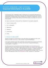 Overzicht veelgestelde vragen workshops ... - ZZP in de praktijk