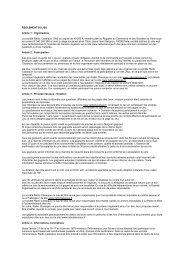 REGLEMENT DU JEU Article 1 : Organisation La ... - Radio Classique