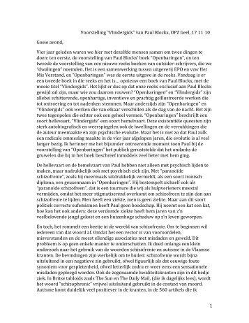 """""""Kunst en psychiatrie"""", door Erik Thys, psychiater ... - OPZ Geel"""