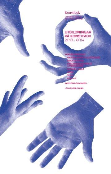 Utbildningskatalog 2013-2014.pdf - Konstfack