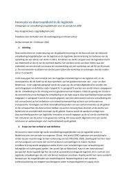 Innovatie en duurzaamheid in de logistiek - Raad voor de ...