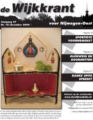12 2009 - De Wijkwebsite voor Nijmegen-Oost