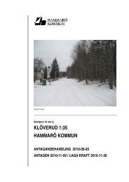 Planbeskrivning Baldersvägen - Hammarö kommun