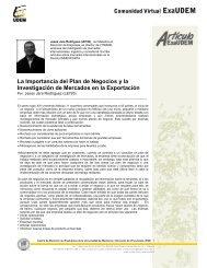 La Importancia del Plan de Negocios y la - Universidad de Monterrey