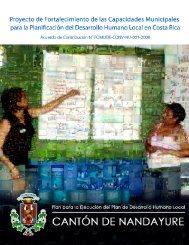 Plan para la Ejecución del Plan de Desarrollo Humano Local 2010 ...