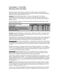 Kvartalsrapport - 2. kvartal 2009: Media Norge ASA ... - Schibsted