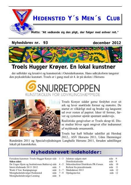 Troels Hugger Krøyer. En lokal kunstner - Hedensted Y's Men's Club
