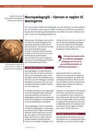 Neuropædagogik – hjernen er nøglen til ... - Servicestyrelsen