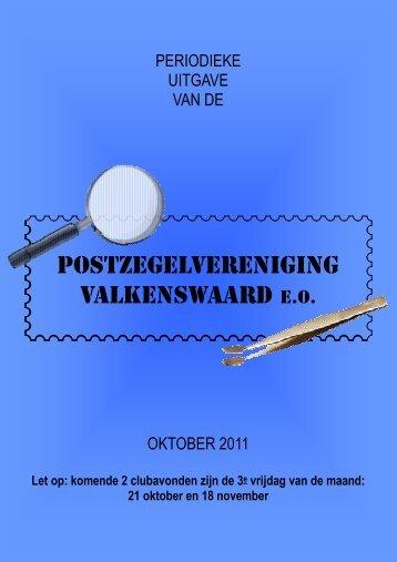 Oktober 2011 - Postzegelvereniging Valkenswaard eo