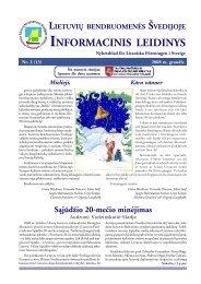 Nr.13, 2008 m. gruodis - Lietuvių bendruomenė Švedijoje