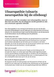 Ulnaropathie (ulnaris neuropathie bij de elleboog) [88kb] - Tergooi