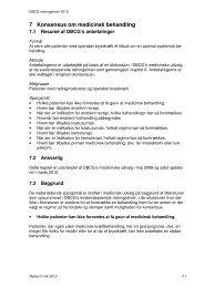 7 Konsensus om medicinsk behandling - DBCG
