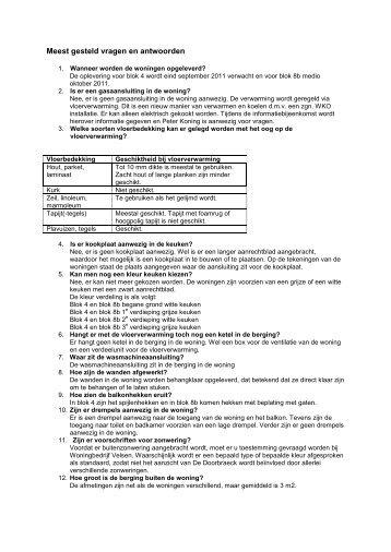 Meest gesteld vragen en antwoorden - Woningbedrijf Velsen