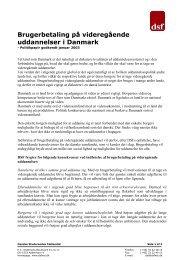 Brugerbetaling på videregående uddannelser i Danmark - Danske ...