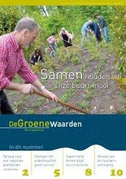 Bewonersblad De Groene Waarden - juli 2012 - Goed Wonen
