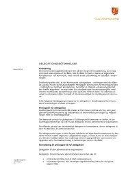 Delegationsbestemmelser - Guldborgsund Kommune