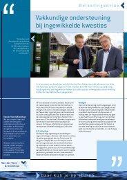 Leaflet Belastingadvies - Van der Veen & Kromhout