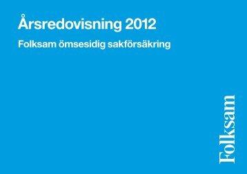 Årsredovisning 2012 - Folksam