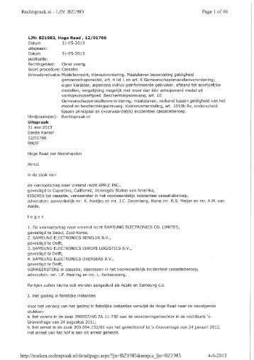 Lees hier het volledige arrest van de Hoge Raad van 31 mei 2013