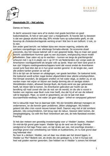 Van Rossum Heemstede IV Het Advies - Bisnez Management