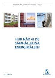 hur når vi de samhälleliga energimålen? - Publikationer från ...
