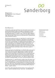 Læs brevet fra borgmesteren her - Sønderborg Kommune