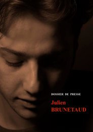 DOSSIER DE PRESSE FRANCAIS - Julien Brunetaud