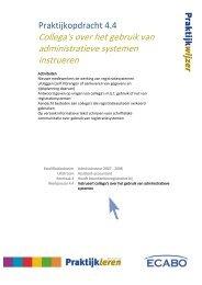 Collega's over het gebruik van administratieve systemen instrueren